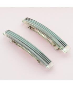 Stripe Long & Skinny Barrette  2-Pack