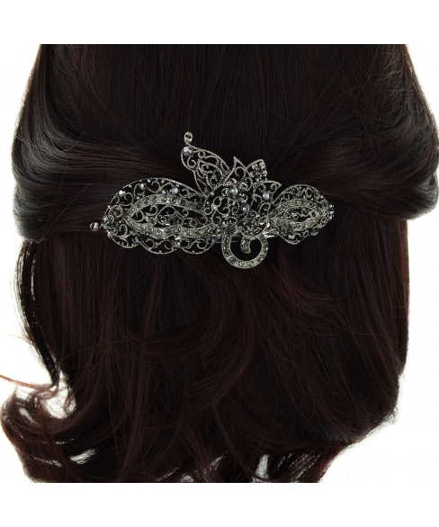 Crystal Flower Volume Barrette