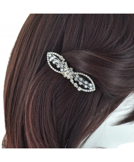 Crystal Bow Barrette (Cilp Paris)