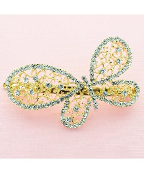 Austria Crystal Butterfly Barrette (Clip France)