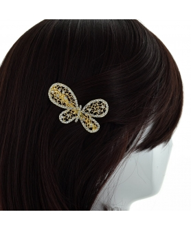 Austria Crystal Butterfly Barrette (Clip France)