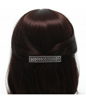 Australian Crystal Rectangle Barrette