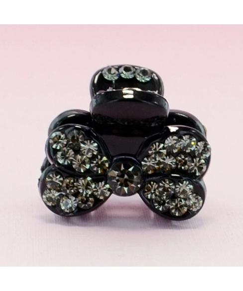 Lavish Crystal Bow Hair Jaw (Mini)