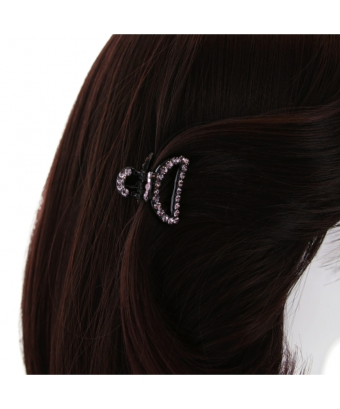 Crystal-Embellished Cut out Hair Jaw (Mini)