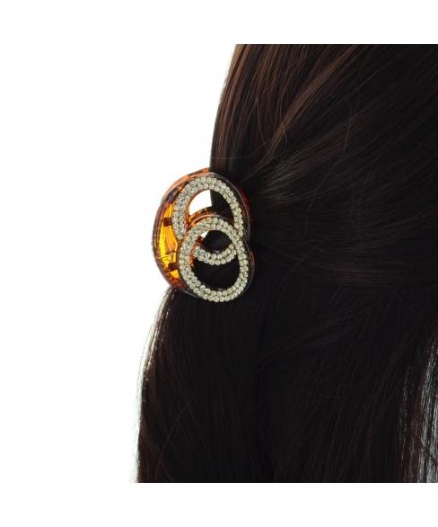 Double Ring Rhinestone Hair Jaw