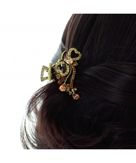Luxurious Cubiczirconia Bow Hair Jaw
