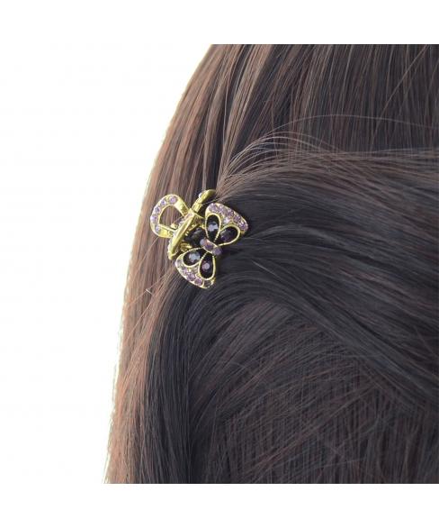 Mini Crystal Bow Hair Jaw