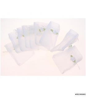Flower Deco Matching Drawstring Organza Bag