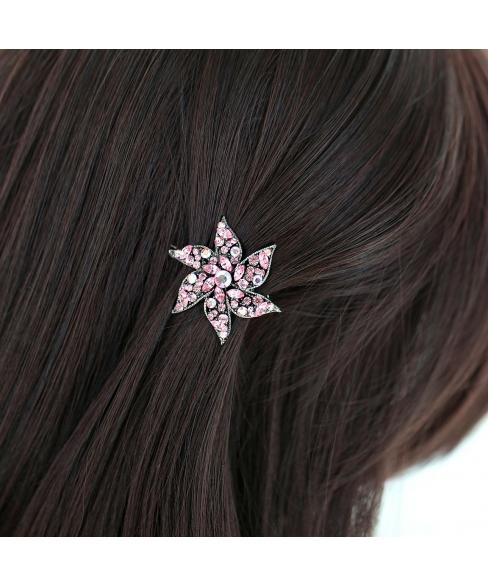 Crystal Flower Barrette