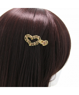 Rhinestone Alligator Heart Hair Clips