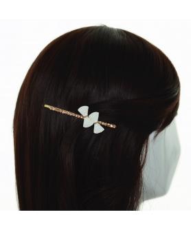 Elegant Faux Pearl Bow & Crystal Bobby Pin