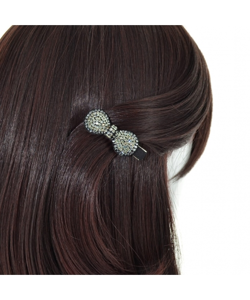 Crystal Bow Alligator Clip