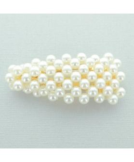 Imitation Pearl Water Drop Snap Clip/Barrette