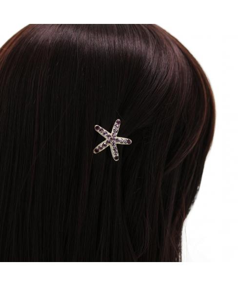 Swarovski Crystal Star Mini Barrette