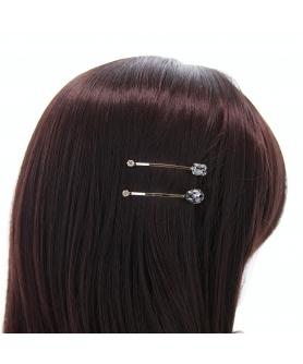 Rhinestone 2-Pack Bobby Pins/Hair Clips