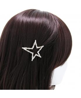 Cubiczirconia Rhinestone Bridal Star Barrette