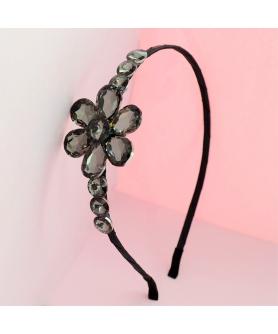 Sparkling Crystal Flower Headband