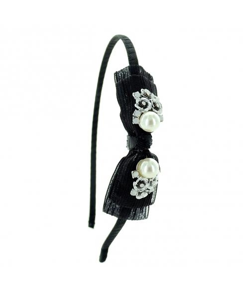 Crystal Deco Bow Headband