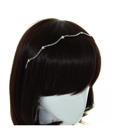Skinny Wave Crystal Star Headband