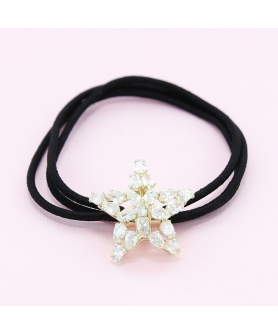 Australian Crystal-Embellished Star Hair Tie