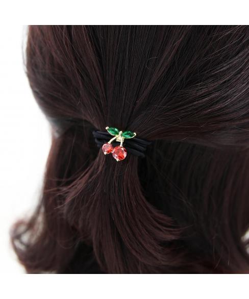 Cubiczirconia Rhinestone Cherry Ponytail Holder