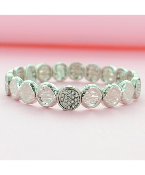 Crystal Disc Stretch Bracelet