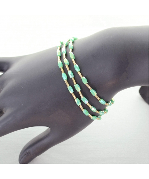 Crystal Stretch 3-in-1 Nacklace, Bracelet, Anklet