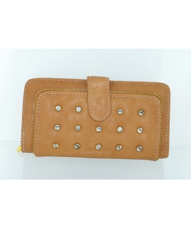 Crystal Studded Vegan Leather Wallet