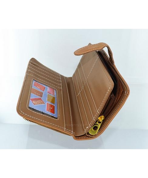 Crystal Studded Vegan Leather Wallet