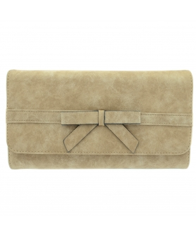Bow Textured Faux Leather Wallet On A Chain