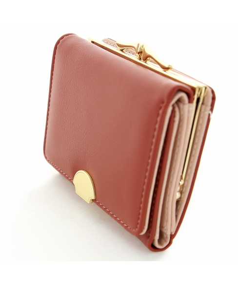 Shell Vegan Leather Trifold Wallet