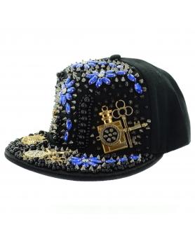 Unsex Crystal & Studded Baseball Cap