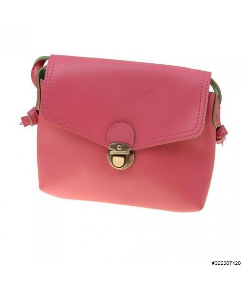 Vegan leather clasp closure crossbody mini bag