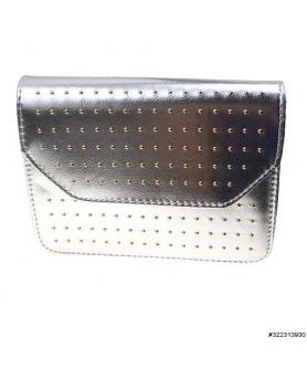 Glitzy studded vegan-leather crossbody bag