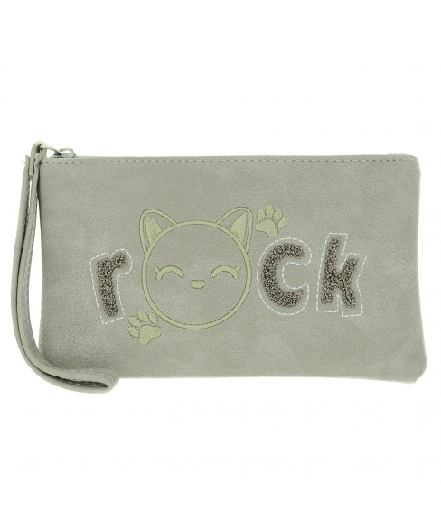 Rock Cat Change Purse