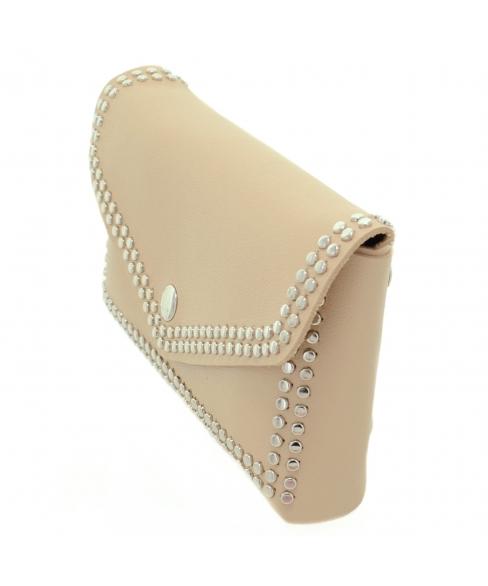 Studded Faux Leather Belt Bag