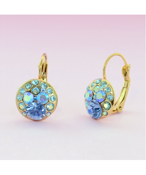 Gold Tone Crystal Earrigns