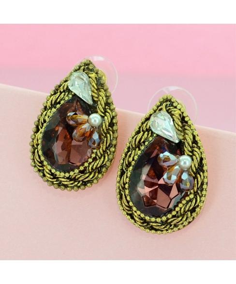 Vintage Spirit Crystal Earrings