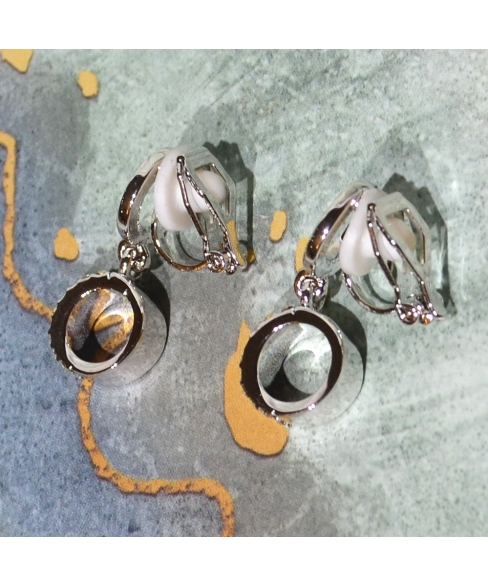 Crystal  Cilp On Earring