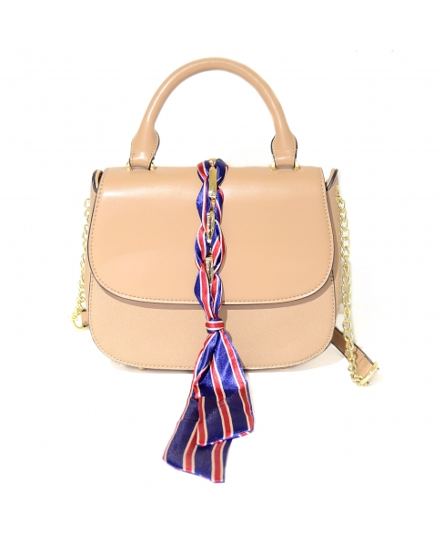 Ribbon Top Handle Satchel