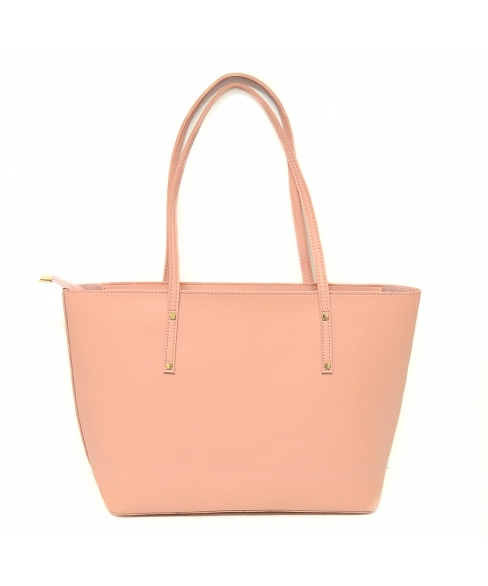 Studded Shopping Tote with Pouch