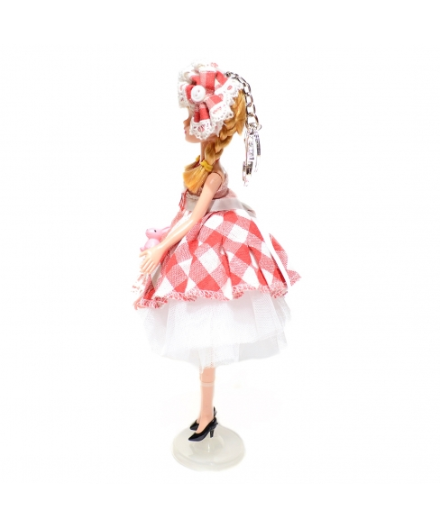 Pretty Doll In Victorian Style Dress Key Chain
