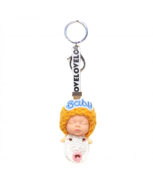 Sleeping Baby Key Chain