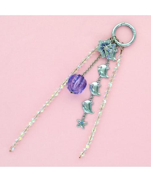 Happy Chicks Crystal & Beads Bag Charm.