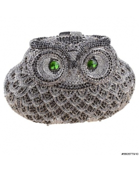 Crystal-Embellished Owl E, White