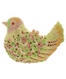 Crystal-Embellished Bird, White