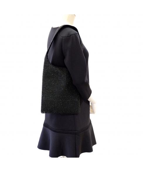 Crystal Metropolitan Mesh shoulder Bag