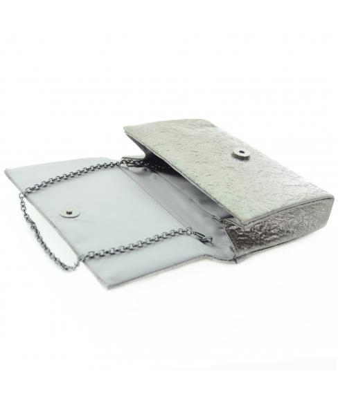 Dazzling Metallic Faux Leather Clutch
