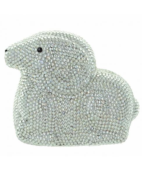 Crystal-Embellished Sheep Evening Clutch