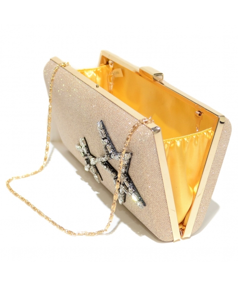 Crystal Star Glitter Clutch